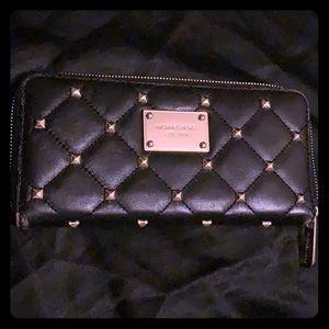 Black leather Michael Kors Wallet